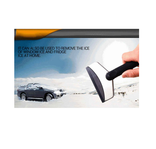 Ice Scraper Snow Removal Shovel - No Harm to Window Glass Winter Self-driving Road Trip Travel Kit Mini Auto Car Vehicles