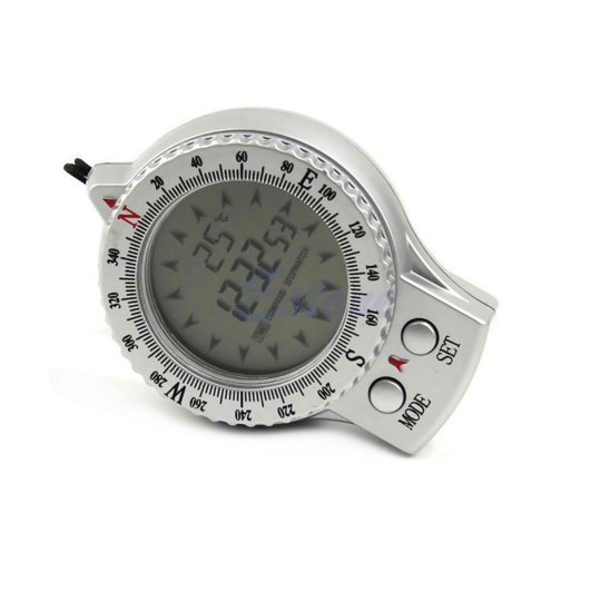 Outdoor Camping Hiking Navigation Digital LCD Compass Thermometer Clock