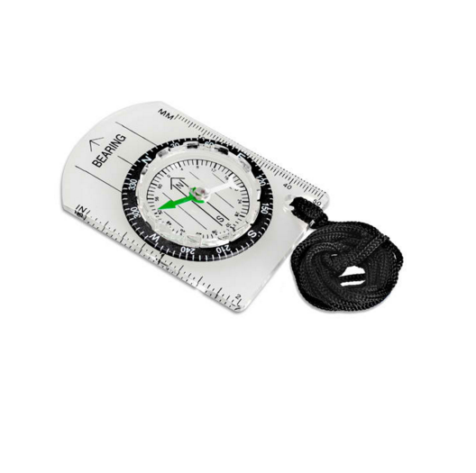Outdoor Camping Hiking Cycling Scouts Military Compass Mini Baseplate Compass Map Scale Ruler