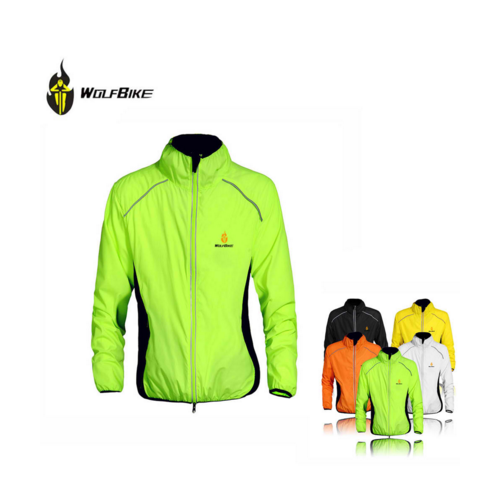 Men Wind Coat Long Sleeve Riding Jacket Camping&Hiking Clothing WOLFBIKE Outdoor Sports Winter Cycling Jersey Breathable