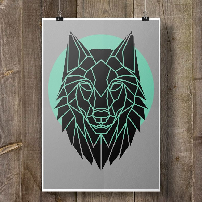 Geometric Animal Art Prints