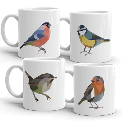 Geometric Bird Mugs