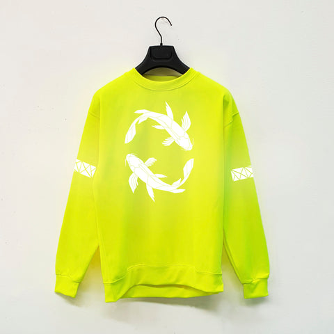 Koi Fish Hi Viz reflective neon streetwear fashion by stencilize