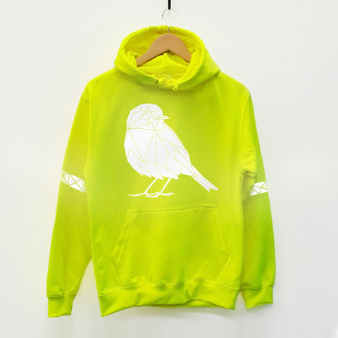 hi viz neon yellow reflective hoodie by stencilize