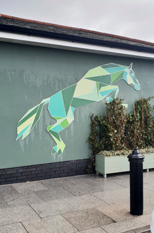 Geometric horse by stencilize at Kildare Village
