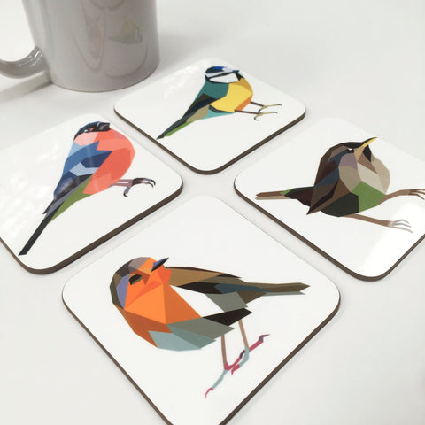 Garden Bird Coasters by Stencilize