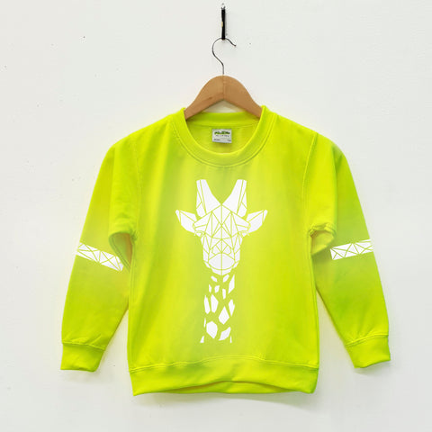 Kids High Viz Reflective Neon Yellow Safety Wear by Stencilize