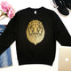 Lion Print Geometric graphic unisex animal sweatshirt - Stencilize