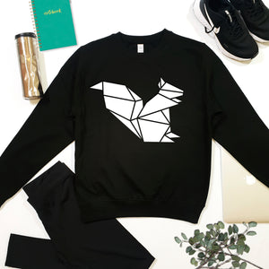 Origami Hummingbird Graphic Sweatshirt, Geometric animal Print