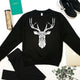 Unisex Geometric Stag head graphic sweatshirt, - Stencilize