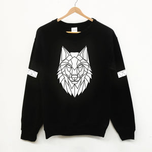 Adult Hi Viz Reflective Wolf Sweater - Stencilize