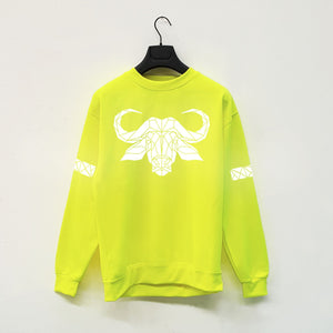 Adult Hi Viz Reflective Water buffalo  Sweater - Stencilize