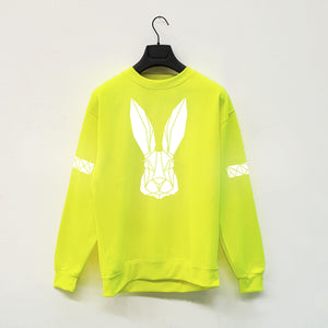 Adult Hi Viz Reflective Bunny Sweater - Stencilize