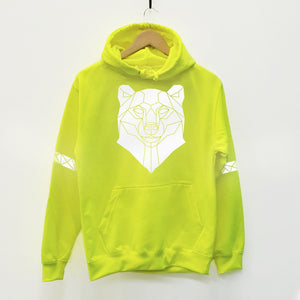 Bear Reflective Print Hoodie - Stencilize