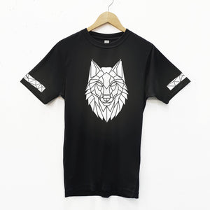 Unisex Reflective Wolf Cycling T-Shirt - Stencilize