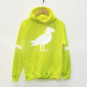 Puffin Reflective Print Adult Hoodie - Stencilize
