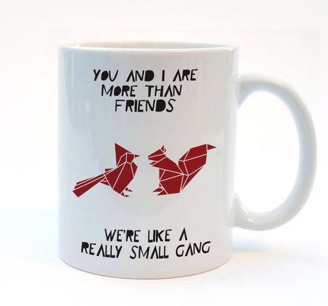 Cute Origami Best Friend Mug - Stencilize
