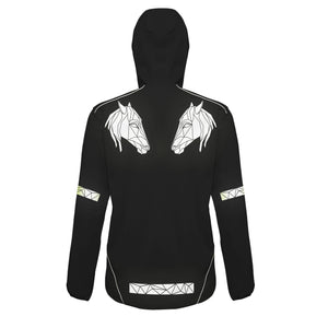 Soft Shell Reflective Horse Head Jacket - Unisex - Stencilize