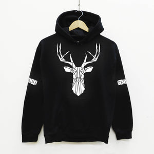 Stag Reflective Print Hoodie - Stencilize