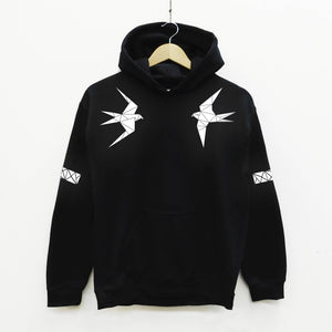 Swallow Reflective Print Hoodie - Stencilize
