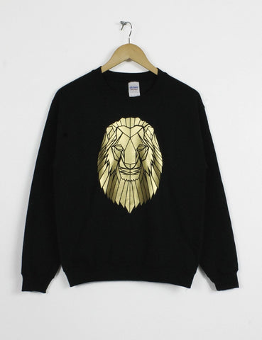 Lion Print Geometric graphic animal sweatshirt
