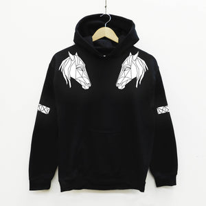 Horse Head Reflective Print Adult Hoodie - Stencilize