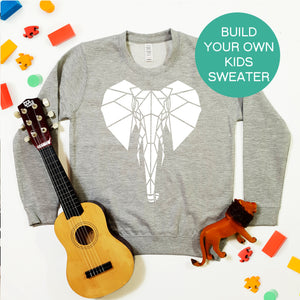 Kids Sweater Build Your Own Sweater (Unisex Size) - Stencilize