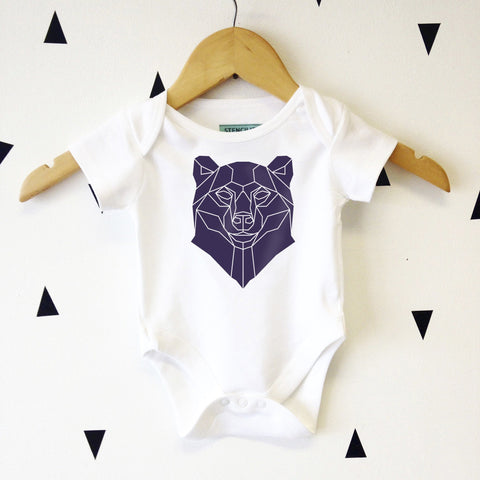 Geometric Baby Bear Graphic Babygrow