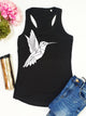 Hummingbird Print Racer Back Tank Top - Stencilize