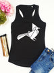 Origami Bird Print Racer Back Tank Top - Stencilize