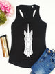 Geometric Unicorn Print Racer Back Tank Top - Stencilize