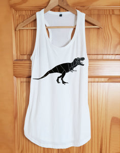 Dinosaur Print Racer Back Tank Top - Stencilize