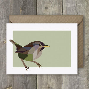 a Greeting Cards Set of 4 Geometric Garden Bird - Stencilize