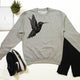 Hummingbird Graphic Sweatshirt, Geometric bird Print - Stencilize