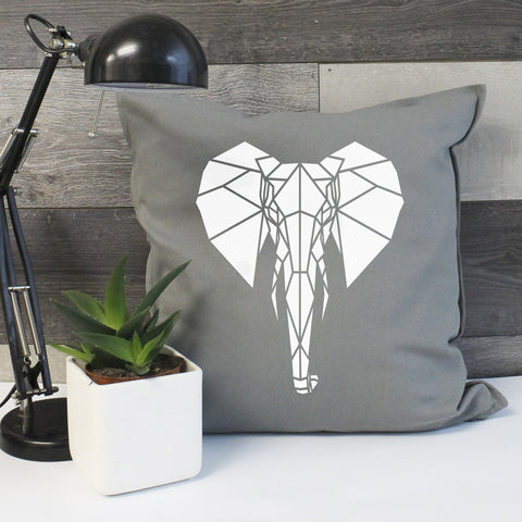 Elephant Cotton Cushion Cover - Stencilize