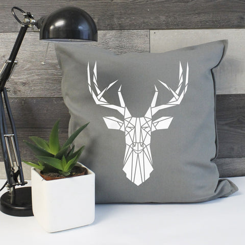 Stag Print Cushion Cover - Stencilize