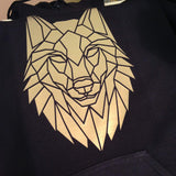 Graphic Wolf Hoodie, Geometric Animal - Stencilize