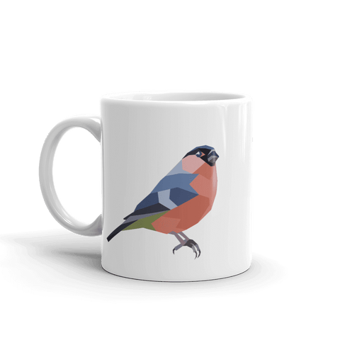 Geometric Bullfinch Mug - Stencilize
