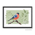 a Bullfinch Print Geometric Bird Illustration