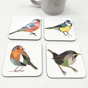 Geometric Garden Bird Coasters - Stencilize