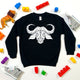 Kids Geometric Water Buffalo Print Sweatshirt - Stencilize