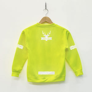 Kids Hi Viz Reflective Print Buffalo Sweater - Stencilize