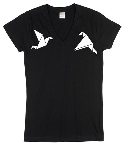 origami bird t-shirt by stencilize