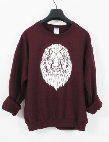 Lion Crewneck Geometric graphic animal sweatshirt