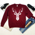 Unisex Geometric Stag head graphic sweatshirt,