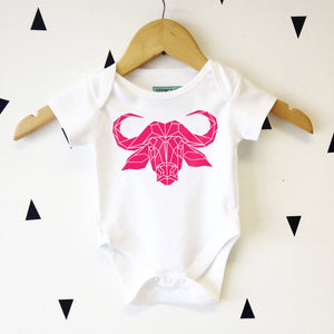 Supersoft Water Buffalo Baby Bodysuit - Stencilize