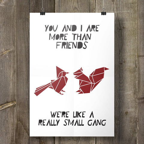 Small Gang Art Print, Geometric Animal Design
