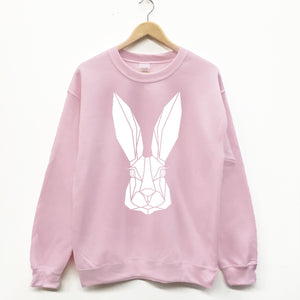 Unisex Bunny Geometric graphic sweatshirt - Stencilize