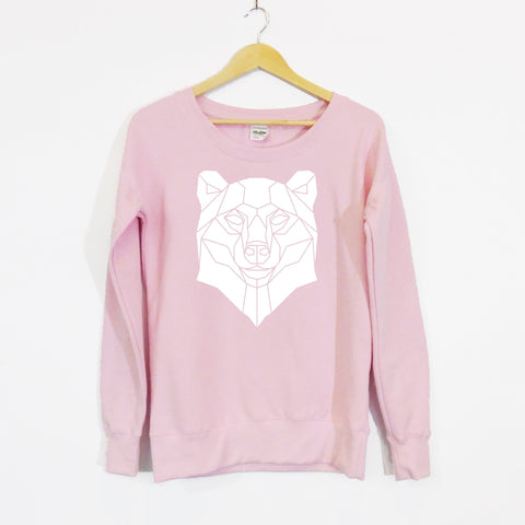 Bear Scoop Neck Girls Sweater Limited edition