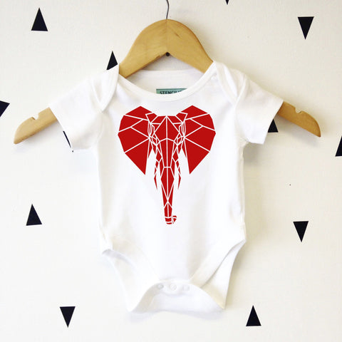 Cool Elephant Graphic Babygrow